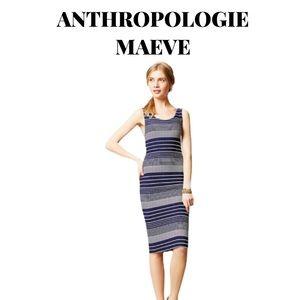 "NWOT Maeve ""Edisto"" Striped Column Midi Dress Sm"